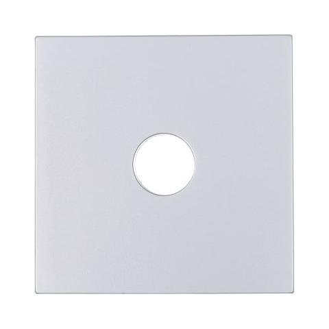 Лицевая панель розетки TV. Цвет Серебристый металлик. LK Studio LK80 (ЛК Студио ЛК80). 845103