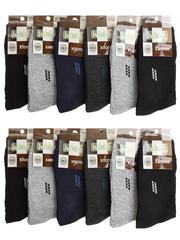 F506-10 носки мужские 40-47 (12шт), цветные