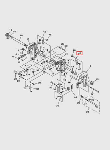 Планка стопорная  для лодочного мотора T15, OTH 9,9 SEA-PRO (13-45)
