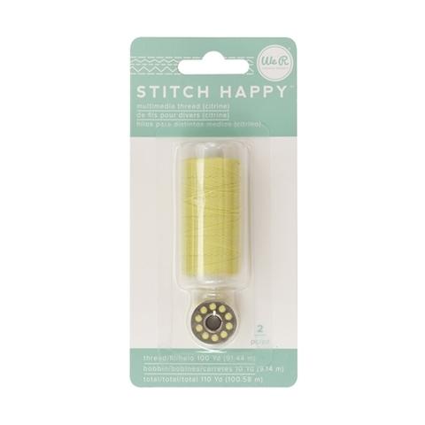 Катушка нити и шпулька для шитья We R Stitch Happy Twine -2шт- Citrine