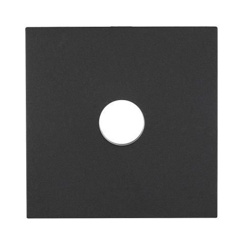 Лицевая панель розетки TV. Цвет Чёрный бархат. LK Studio LK80 (ЛК Студио ЛК80). 845108