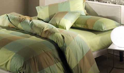 Постельное белье 2 спальное евро макси Caleffi Cottage коричневое