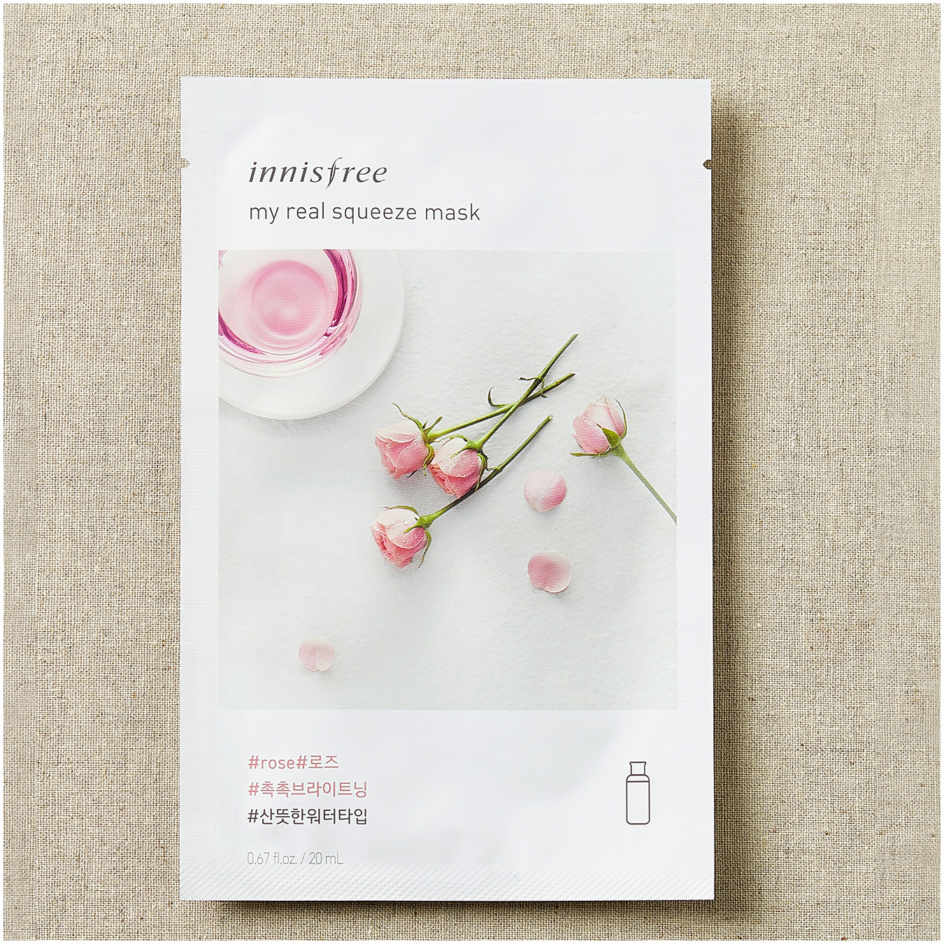 Innisfree My Real Squeeze Rose Mask