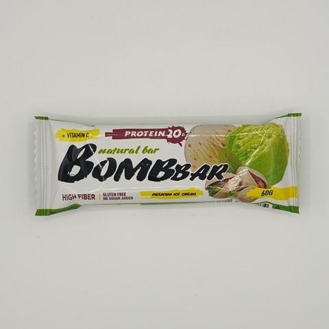Батончик Natural Bar вкус Фисташковый пломбир BOMBBAR, 60 гр