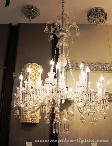 replica BACCARAT ZÉNITH CHANDELIER ( 12 lights & clear colour )