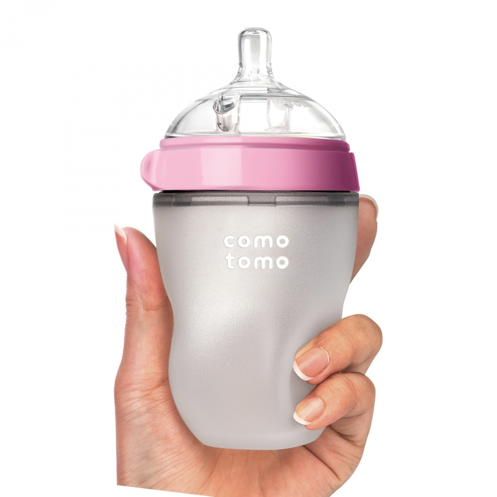 Бутылочка для кормления, цвет розовый (250 мл.) Comotomo Natural Feel Baby Bottle
