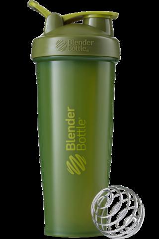 BlenderBottle Classic 946мл Шейкер классический с венчиком-пружинкой оливковый  946 мл