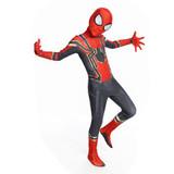 "Новый костюм Человека паука ""Iron Spiderman"" из эластичного спандекса."