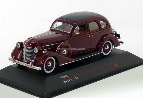 ZIS-101A dark red 1936 IST086 IST Models 1:43