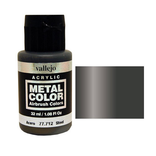 712 Краска Metal Color Сталь (Steel) укрывистый, 32 мл