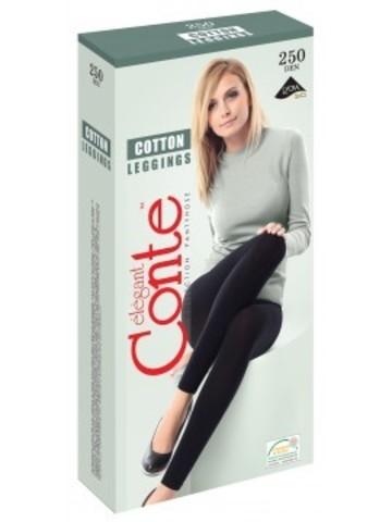 Conte Cotton Leggings Легинсы женские хлопковые 250d, р.2 nero 7С-39СП