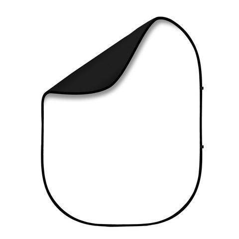 Фон двусторонний тканевый на каркасе Fotokvant FTR-1168 1,5x2 m. Black White (BG-1520)