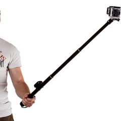 Телескопический монопод для GoPro с креплением для пульта (Black)
