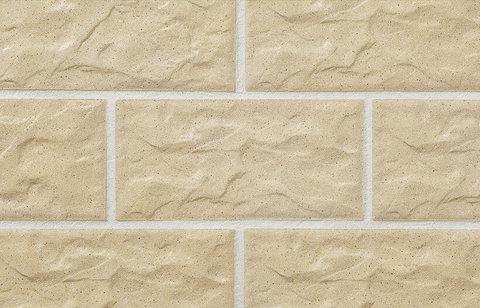 Stroeher, плитка для цоколя и фасада, цвет KS 02 gelb, серия Kerabig, Glasiert, глазурованная, 302x148x12