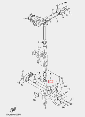 Шайба для лодочного мотора F20 Sea-PRO (20-6)