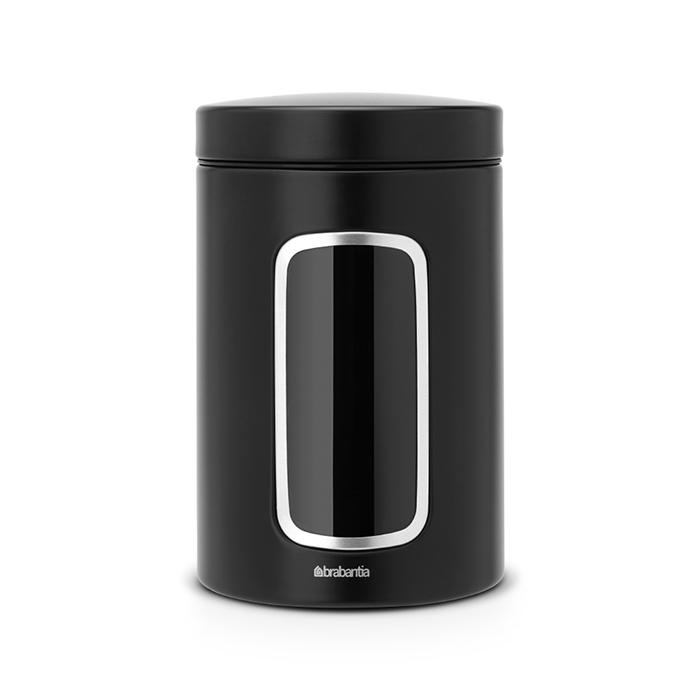 Контейнер для сыпучих продуктов с окном (1,4 л), Черный матовый, арт. 333521 - фото 1