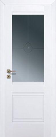 Дверь Profil Doors № 2 U, стекло графит, цвет аляска, остекленная