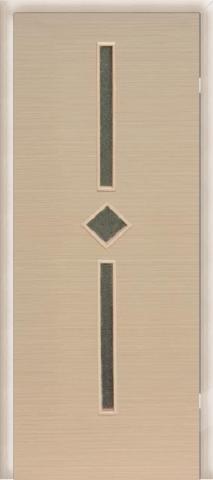 Дверь Сибирь Профиль Диадема, стекло хрусталик, цвет беленый дуб, остекленная