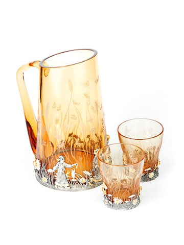 Кувшин со стаканами для воды «Ромашка».