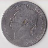K0732, 1821, Великобритания, 1/2 кроны, Ag