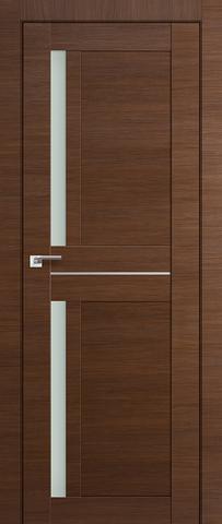 > Экошпон Profil Doors №19X-Модерн, стекло матовое, цвет малага черри кроскут, остекленная