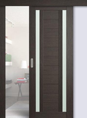 Дверь раздвижная Profil Doors №15Х, стекло матовое, цвет грей мелинга, остекленная