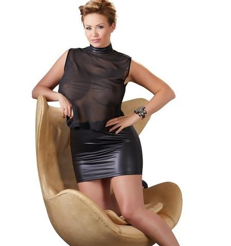 Платье с прозрачным верхом (BS)