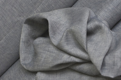 Ткань льняная, цвет асфальт-меланж
