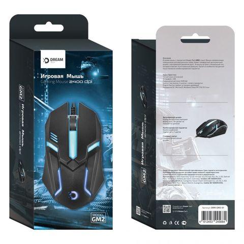 Игровая мышь DREAM GM2-01 (2400 dpi, 7 цветов подсветки) черный