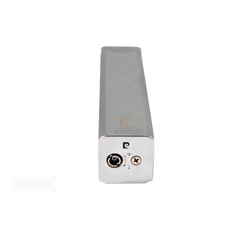 Зажигалка Pierre Cardin кремниевая газовая пьезо, цвет хром с насечкой, 1,7х1,7х7,5см