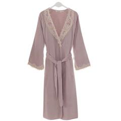 DESTAN - ДЕСТАН лиловый махровый женский халат Soft Cotton (Турция)