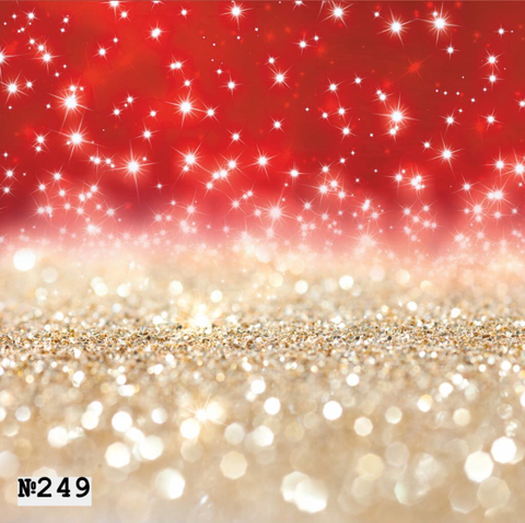 Фотофон виниловый «Красно - золотой боке» №249