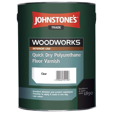 Лак полиуретановый Johnstones Quick Dry Polyurethane Floor Varnish Gloss 5 л