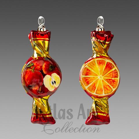 Леденец апельсин-яблоко
