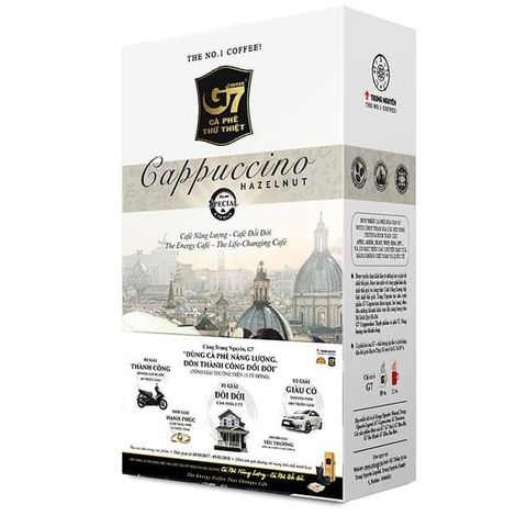Растворимый кофе капучино 3в1 Trung Nguyen. 12 пакетиков.