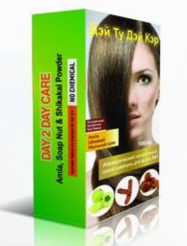 Сухой шампунь для волос (шикакай, амла, мыльный орех) 100 г, D2D