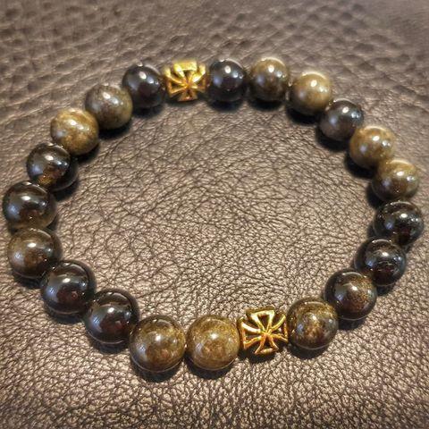 Браслет из натуральных камней: Обсидиан