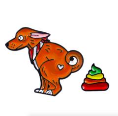 Пин «Собака с какашкой»