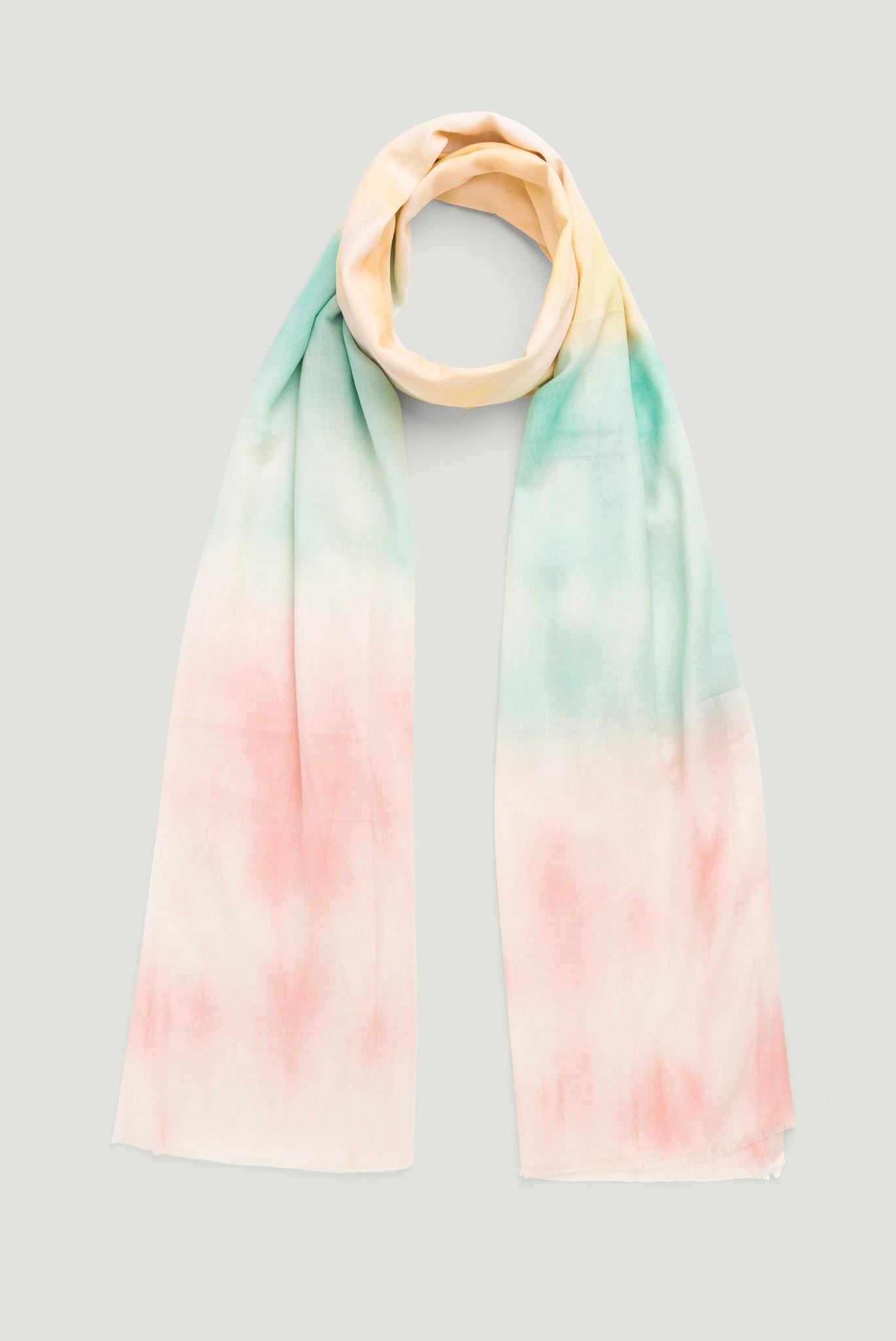 Хлопковый шарф с градиентом