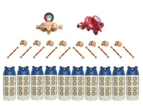 Газобаллонная система GOK (премиум) для подключения 10 композитных баллонов