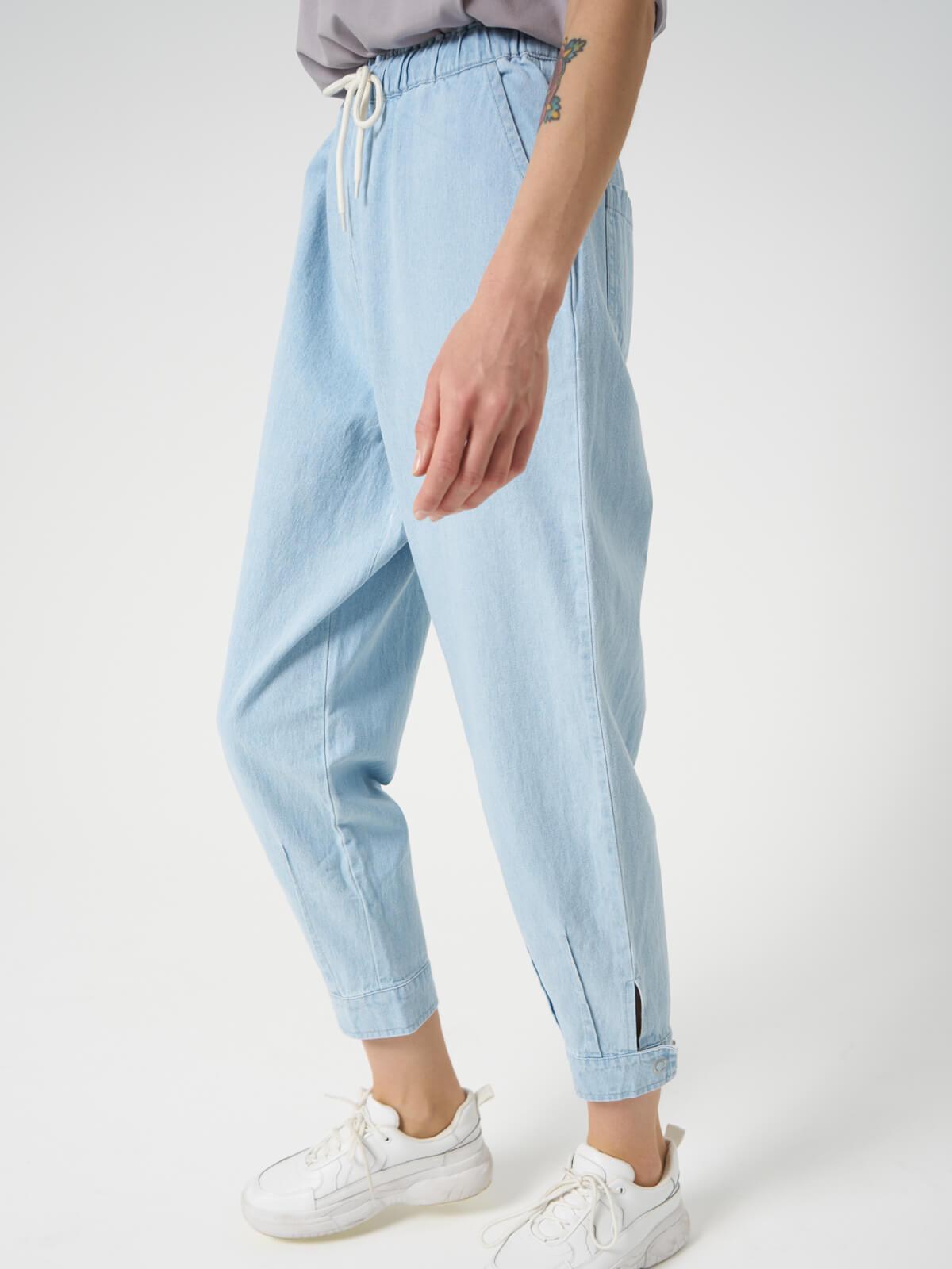 Брюки карго джинсовые