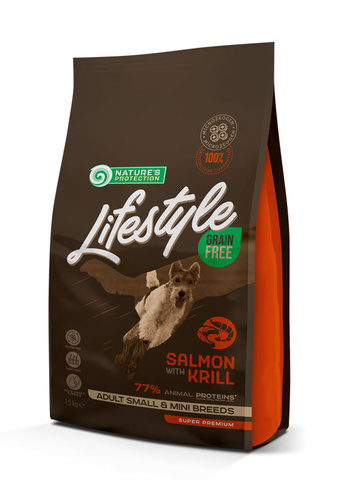 Grain Free Salmon with krill Adult  Small and Mini Breeds food for dogs