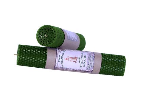 Свеча Императорская зеленая 21см