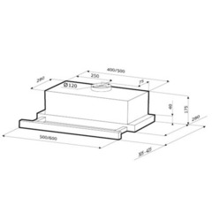 Вытяжка Kronasteel Kamilla Slim 500 inox/inox - схема