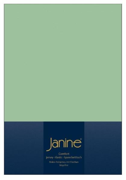 Элитная простыня на резинке Elastic-Jersey 5002 ментоловая от Janine