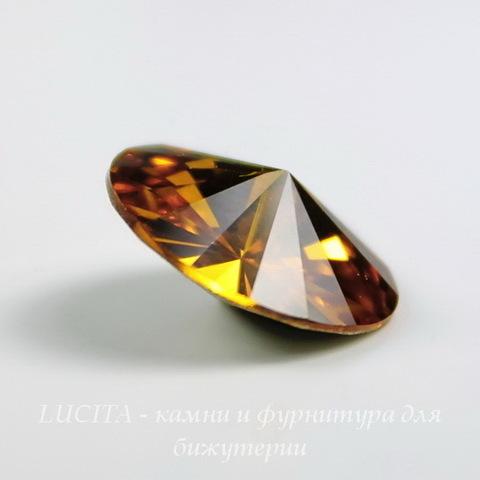 1122 Rivoli Ювелирные стразы Сваровски Topaz (SS39) 8,16-8,41 мм