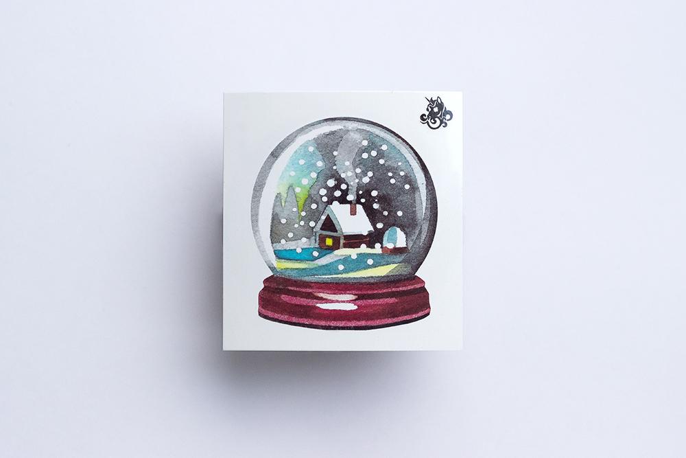 Переводная татуировка Snow Globe