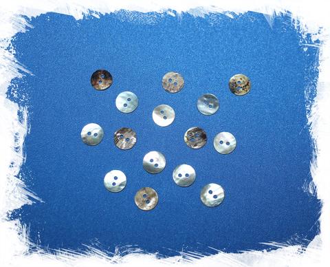 Перламутровые пуговицы 10 мм. (15 шт.)