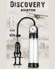 Мужская вакуумная помпа для увеличения пениса DISCOVERY AVIATOR (5,5 х 21,5 см.)