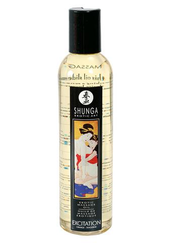 Массажное масло возбуждающее, с ароматом апельсина Shunga, 250 мл